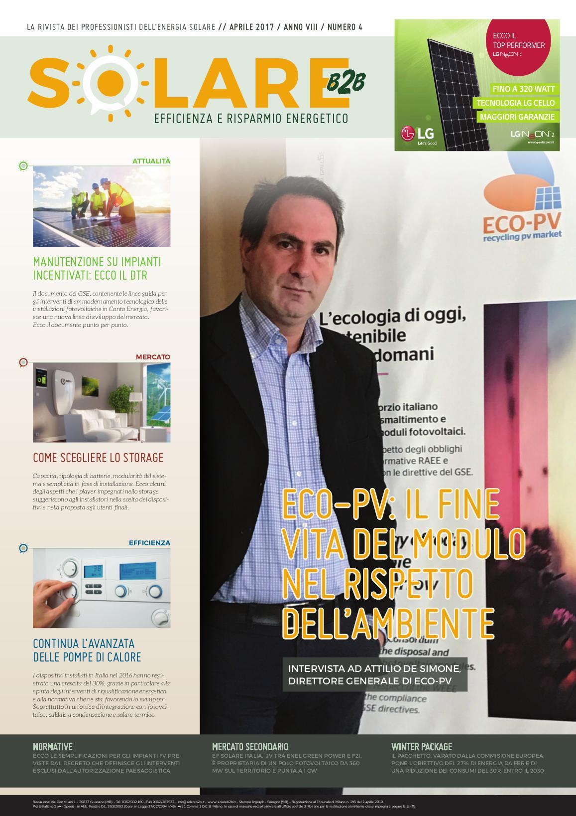 Il fine vita del modulo nel rispetto dell'ambiente. Intervista ad Attilio De Simone, direttore generale di Eco-PV